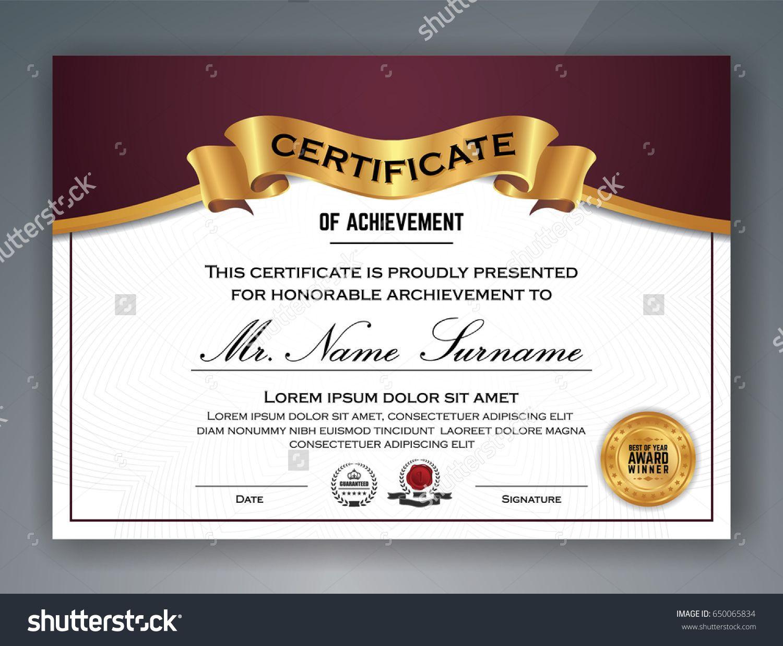 multipurpose professional certificate template design for print vector illustration - Professional Award Certificate Template