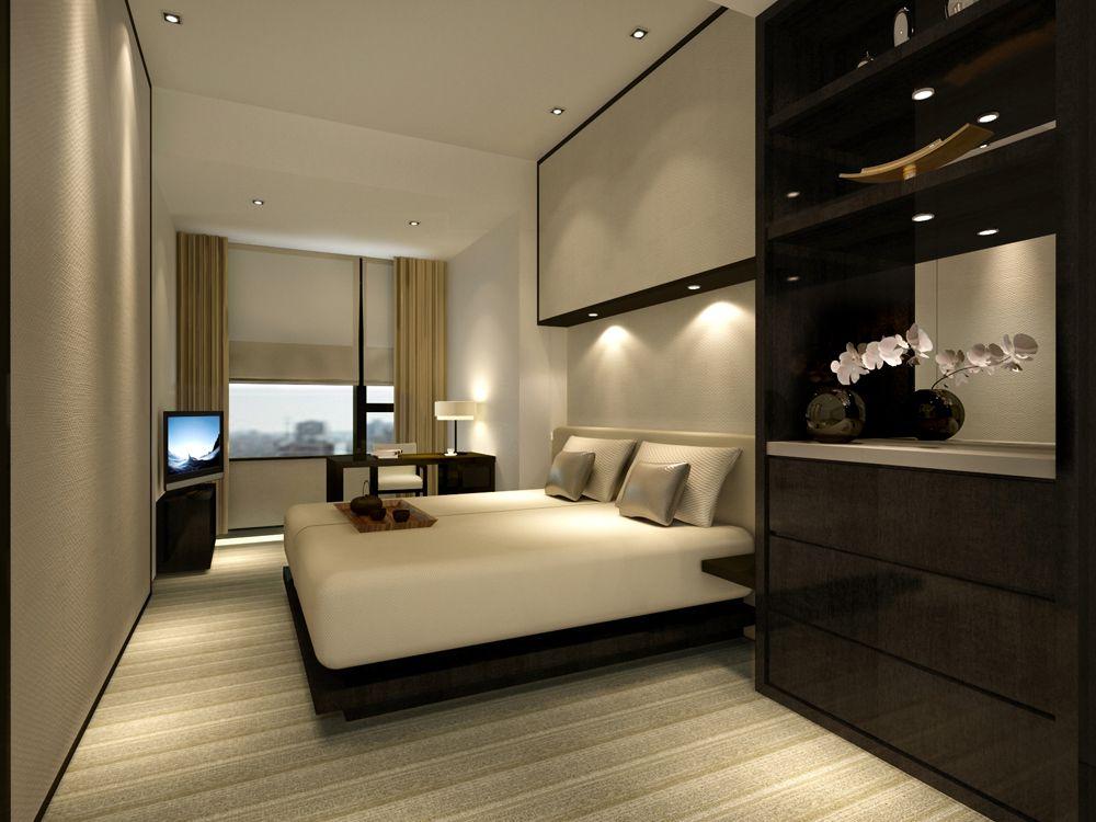 Service apartment design Teak and vanilla L2ds
