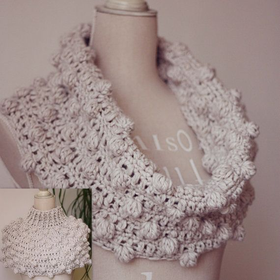 cowl, snood, poncho, crochet pattern | Crochet and knitting shawl ...