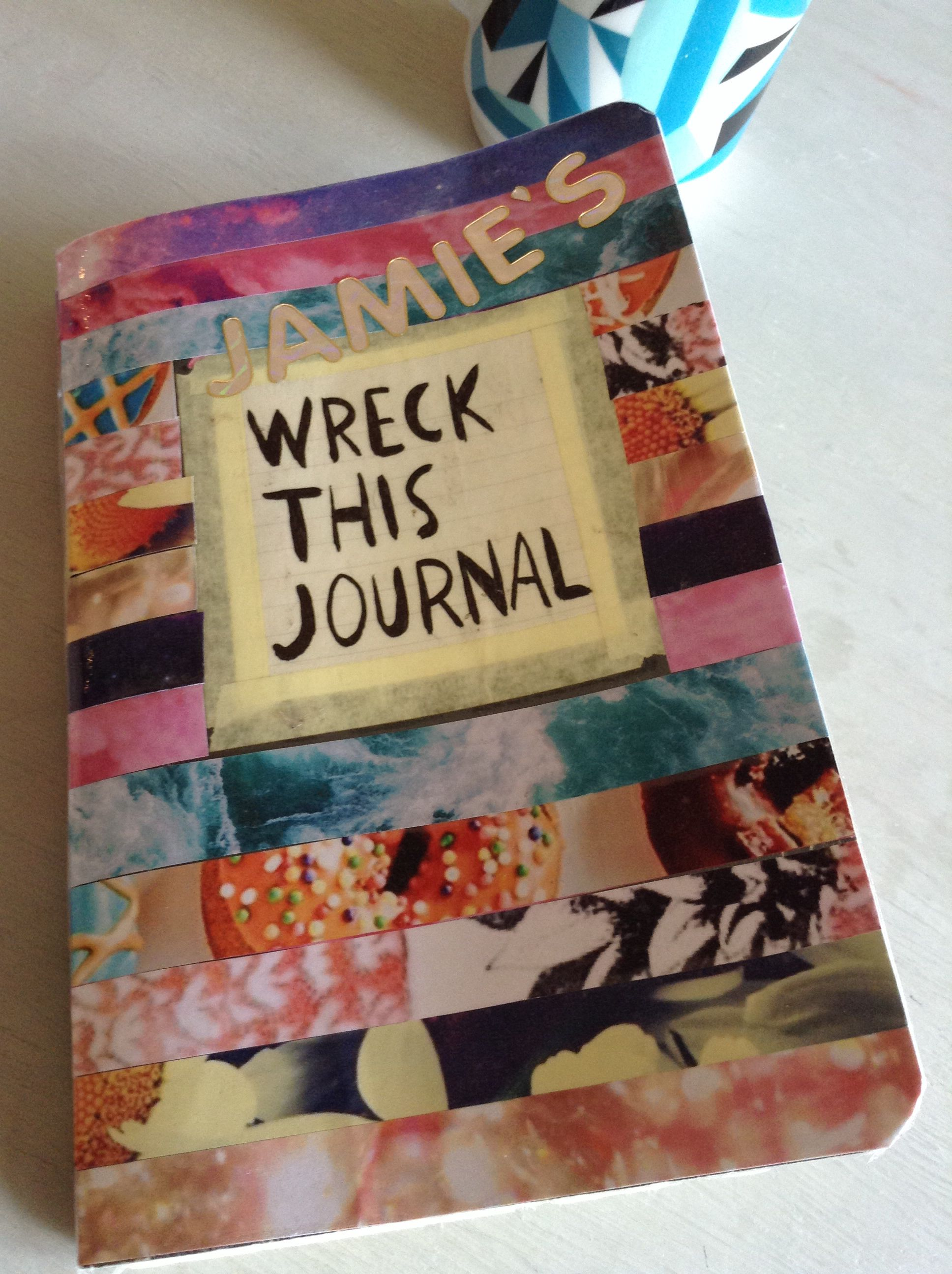 how to make a wreck this journal cover