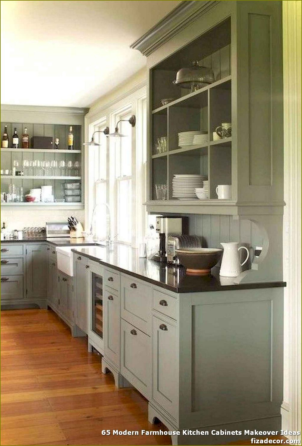 ✓ 65 Modern Farmhouse Kitchen Cabinets Makeover IdeasBest Home Decorating Ideas | fizadecor.com Page 54 #farmhousekitchendecor