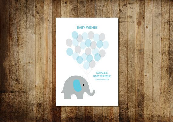 Baby Shower Guest Book Printable A3 by ConceptDesignsSB on Etsy