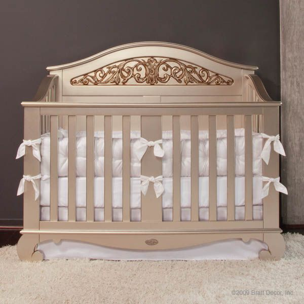 Chelsea Lifetime Crib Antique Silver Stunning Babies Wedding