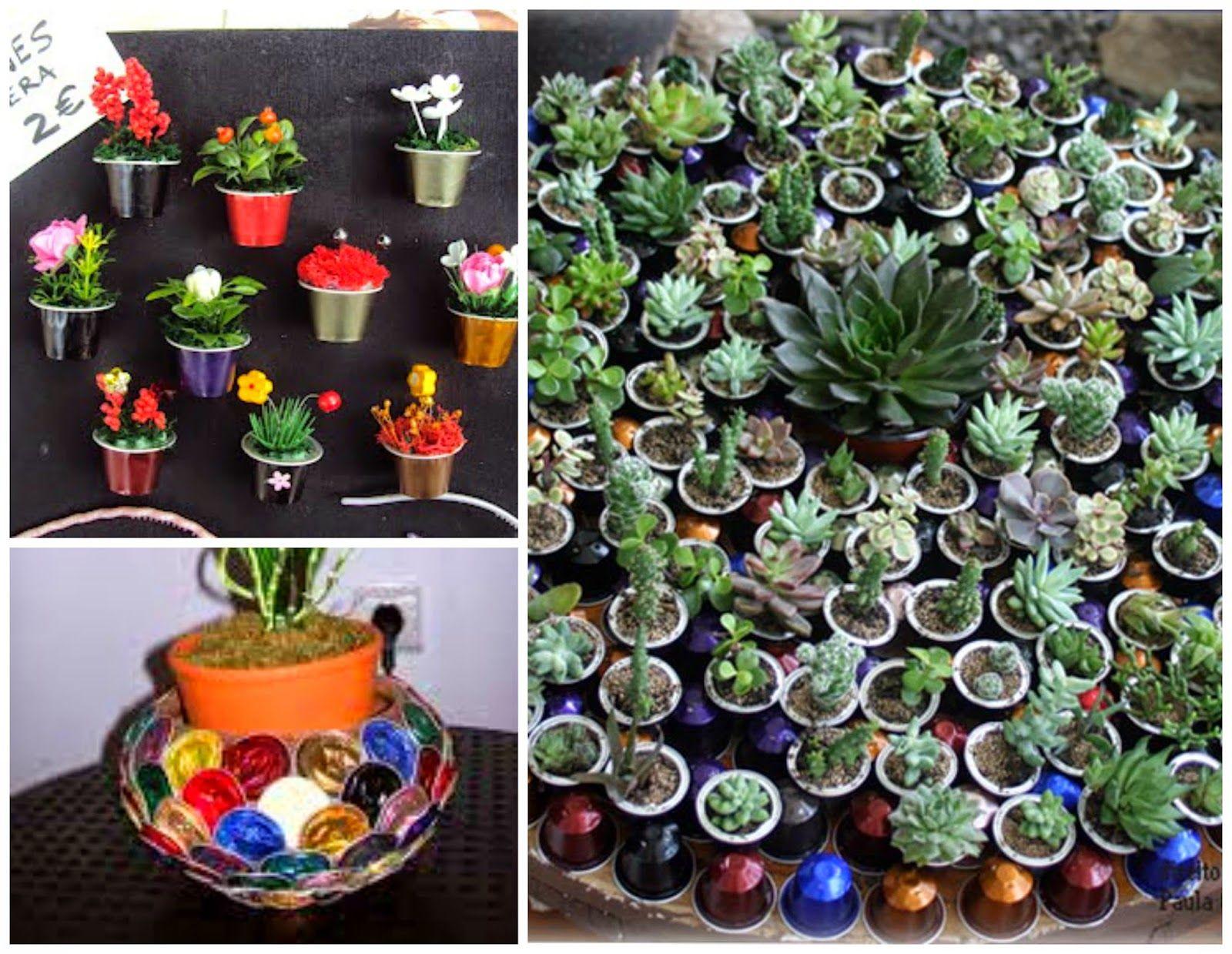 Artesanato Com Capsulas De Cafe Da Pra Fazer Jardinagem Com
