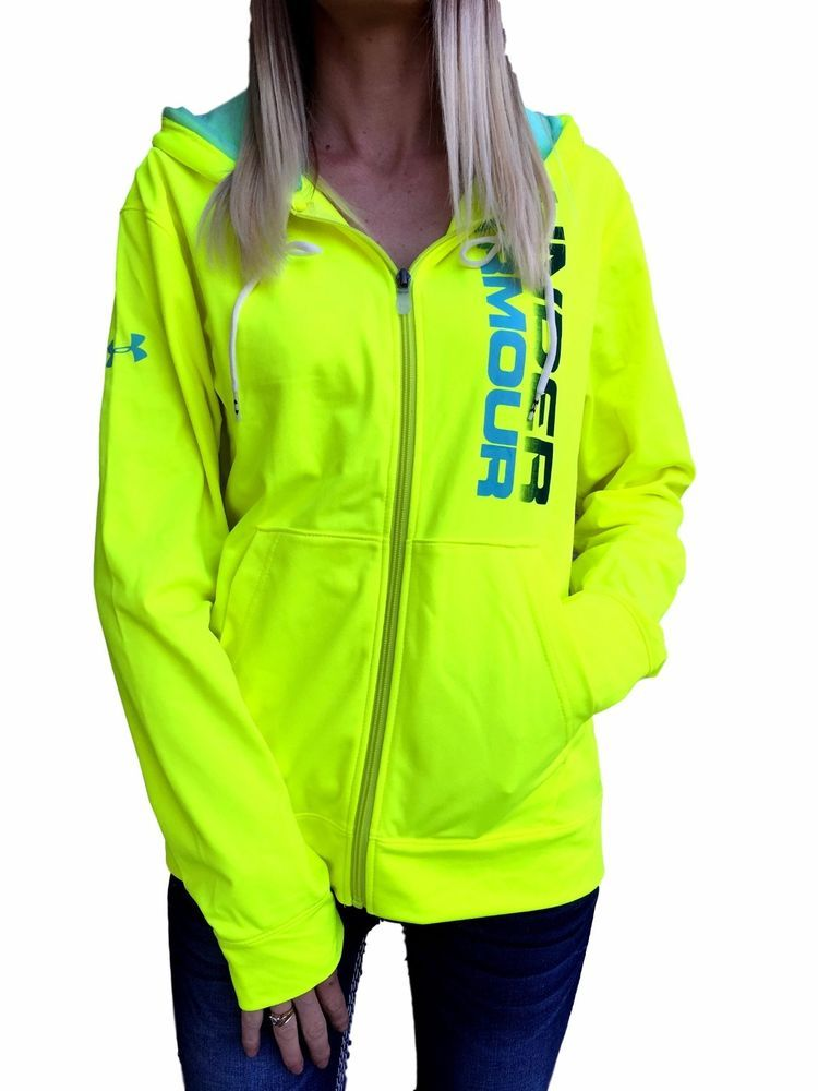 Under Armour Hoodie Zip Up Girls UA Logo Sports Active Wear Coat Jacket Zipper