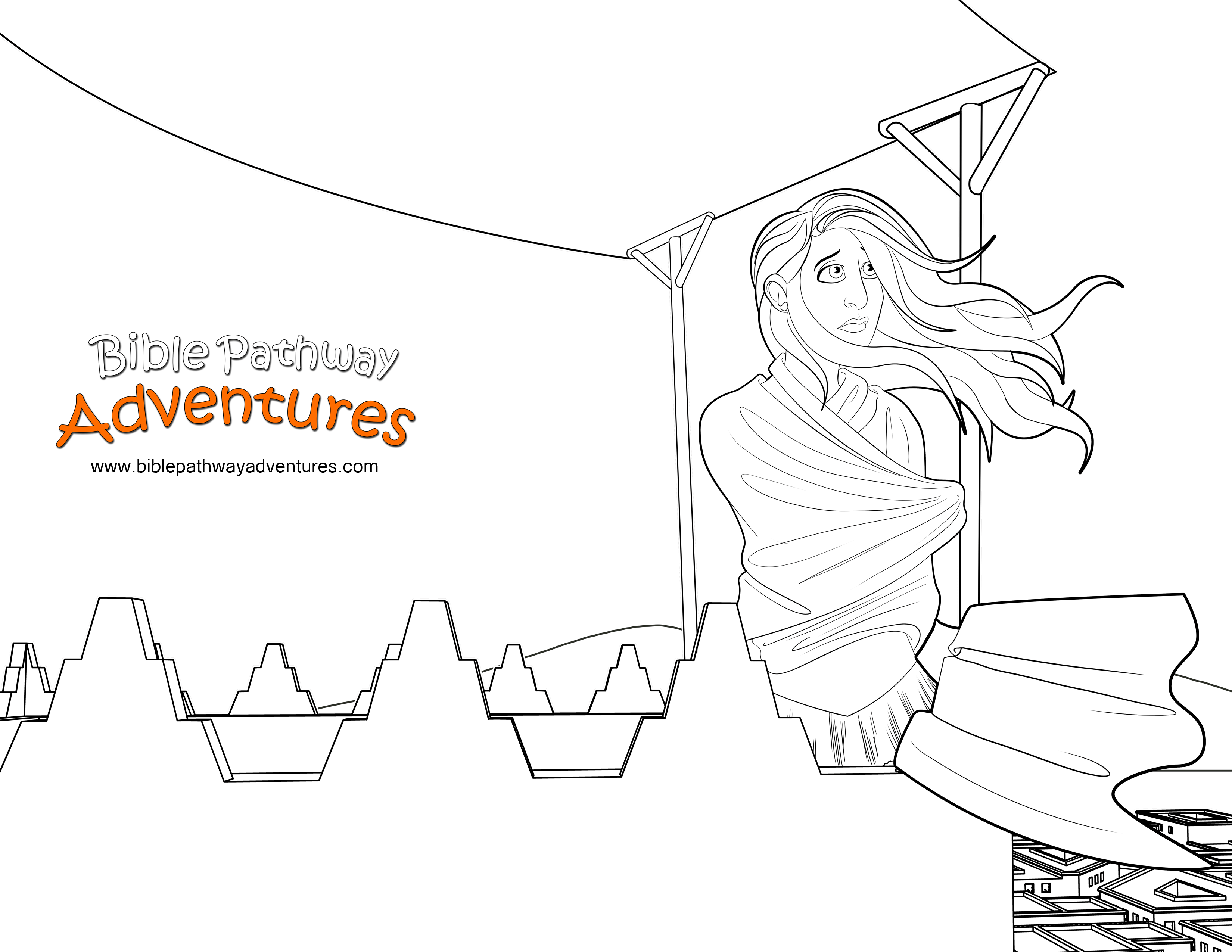 Free Bible Coloring Page Esther