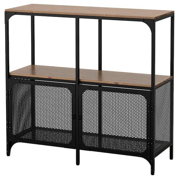 Fjallbo Shelf Unit Black 39 3 8x37 3 8 Ikea In 2021 Shelving Unit Shelf Unit Ikea