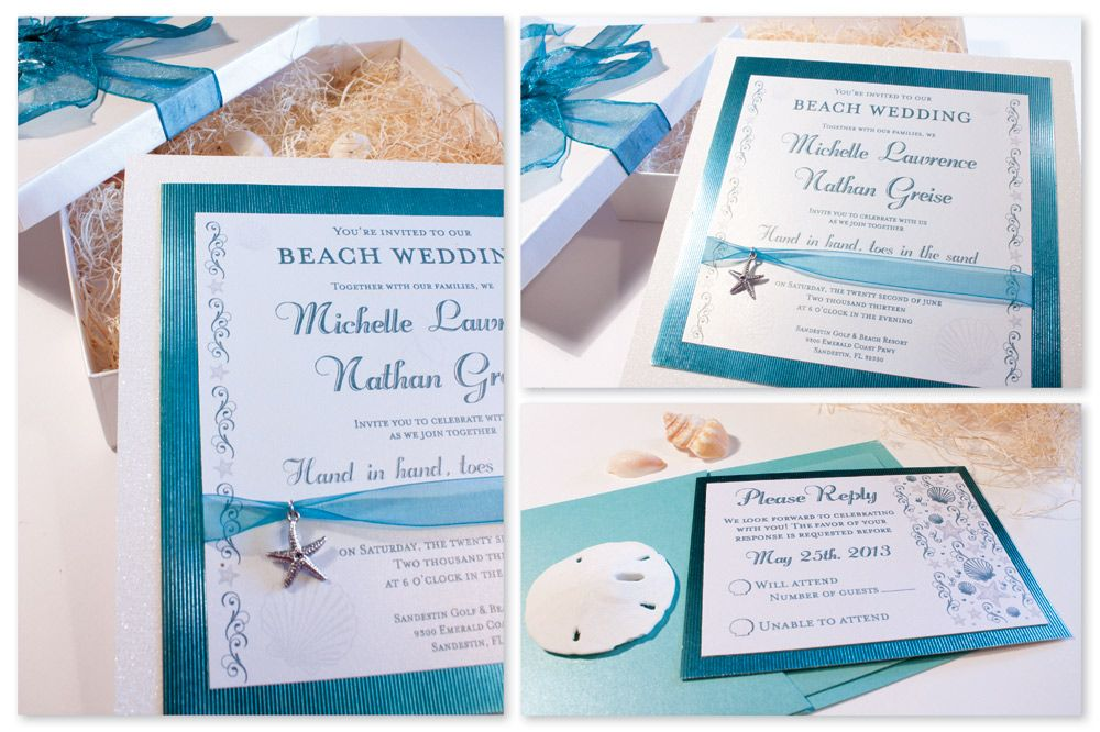 Beach Wedding Invitation A Wedding Breeze Wedding Papers