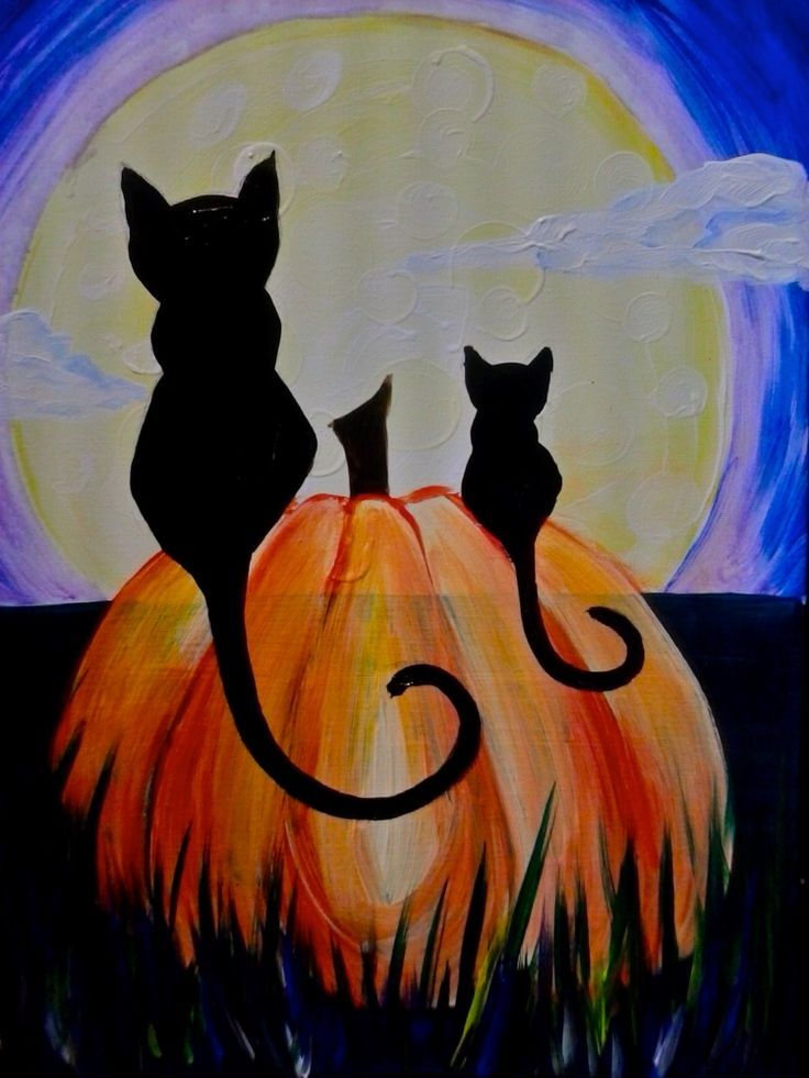 image result for fall paintings on canvas halloween canvas paintingsfall canvas paintinghalloween - Halloween Pictures To Paint