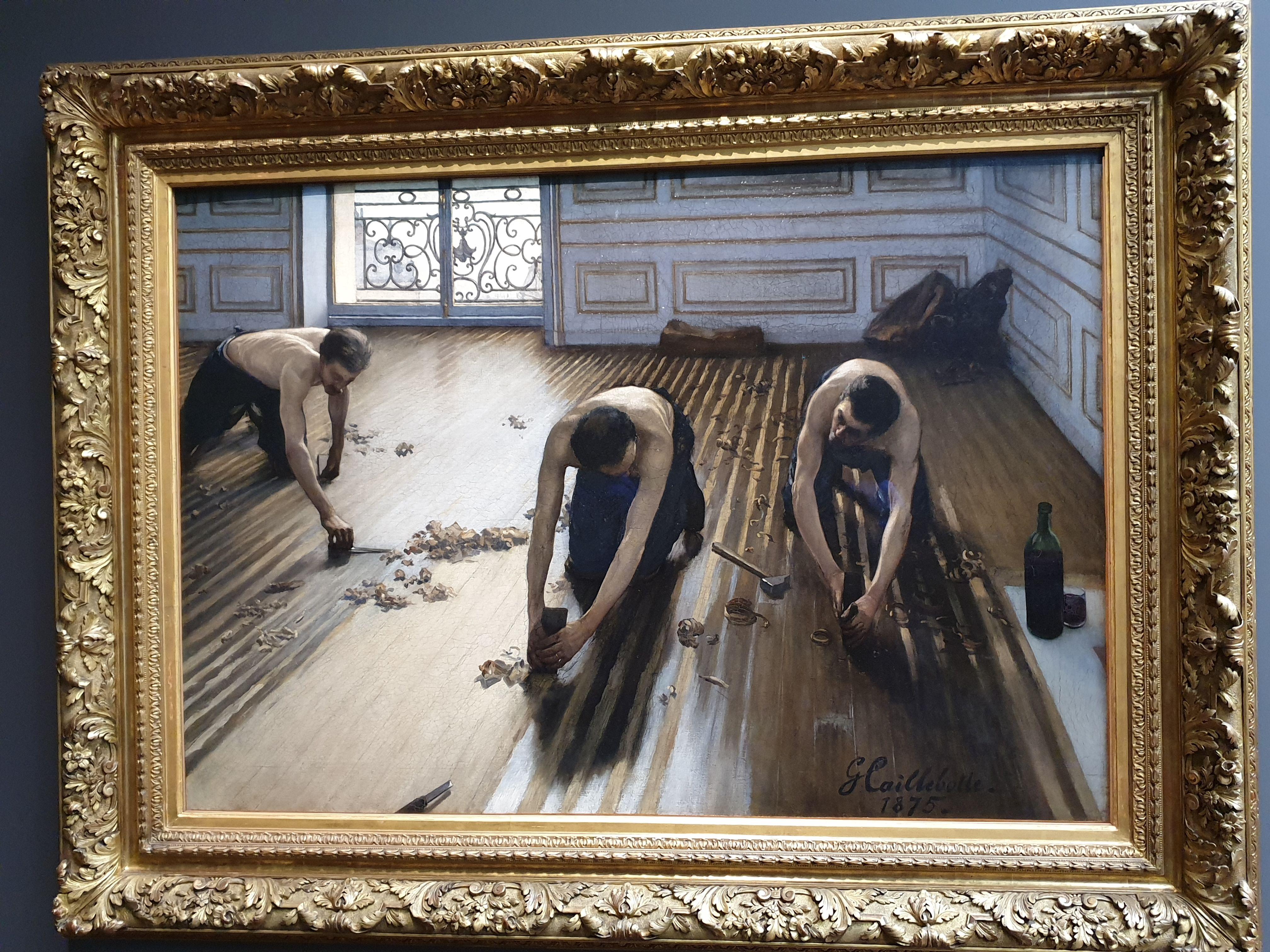 Raboteurs De Parquet Gustave Caillebotte Comment Peindre Les Arts Musee D Orsay