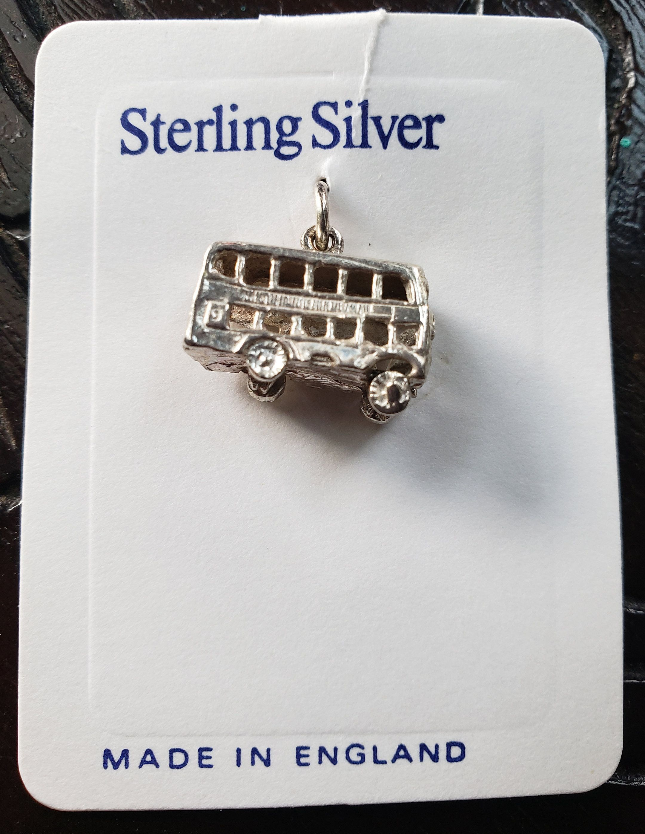 Old English Charm: New Old Stock English Double Decker Bus Sterling Silver