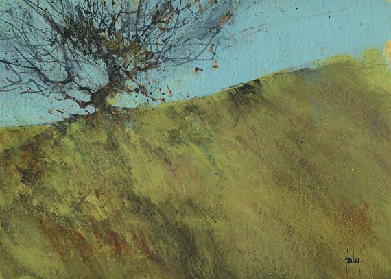 Original+abstract+landscape+painting++Gilfach+hawthorn