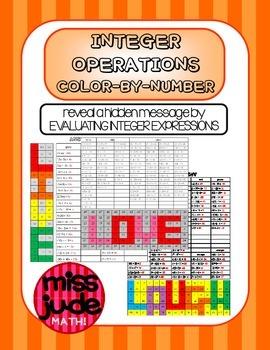 integers order of operations color by number practice worksheets algebra integers order of. Black Bedroom Furniture Sets. Home Design Ideas
