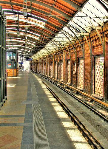 Hackescher Markt S Bahn Station Berlin Germany West Berlin Berlin