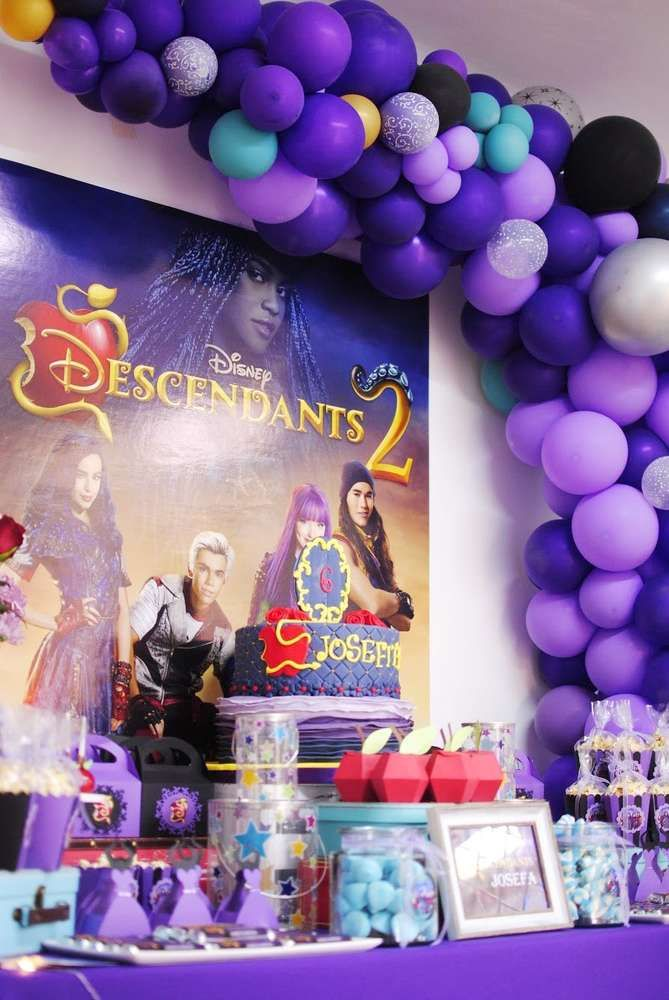 Descendants Birthday Party Ideas | Photo 1 of 45 | Catch My Party #tropicalbirthdayparty