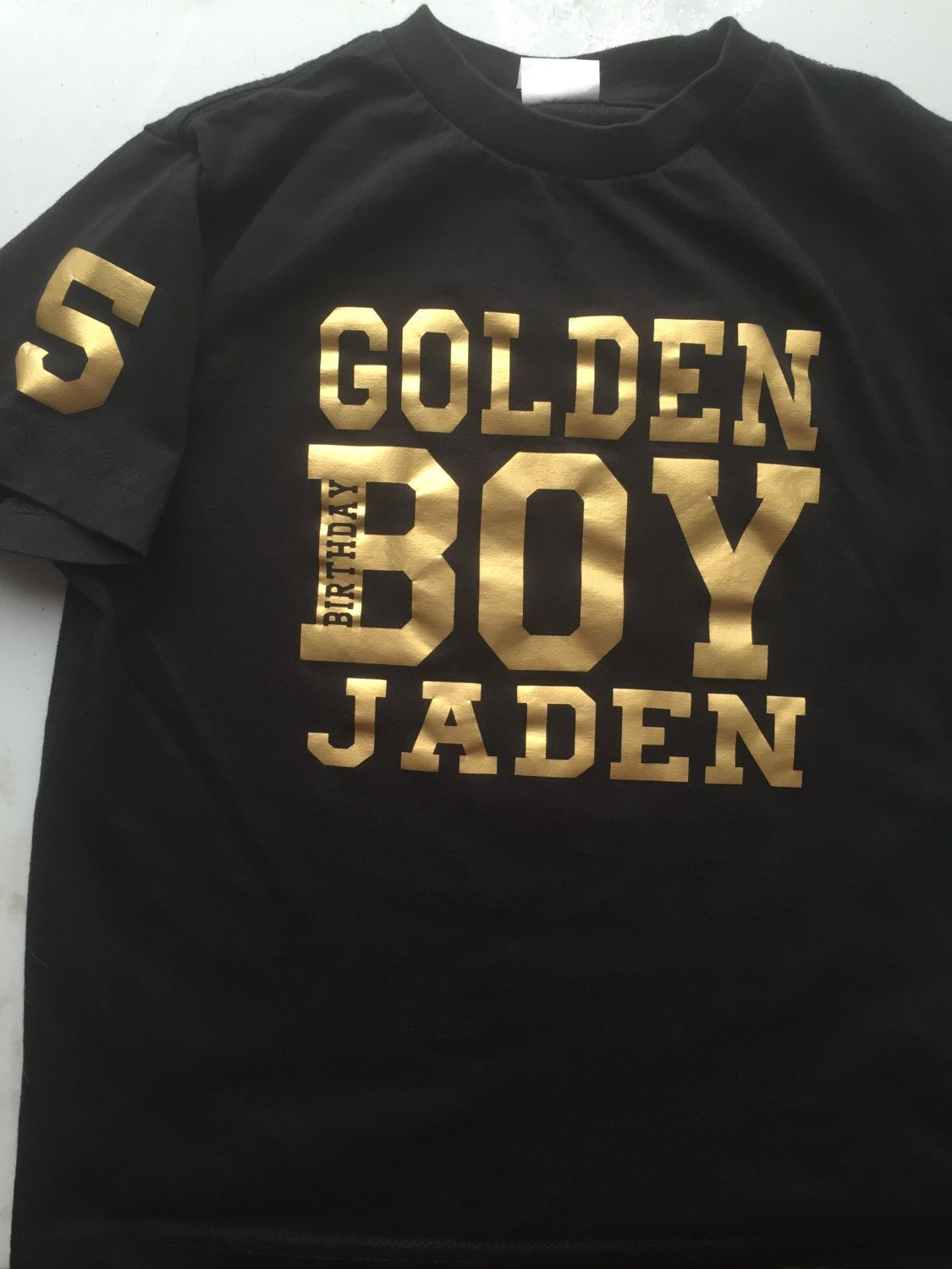 Golden Birthday Boy Shirt Tshirt Personalize With Name Age By DesignsbyJackelyn On Etsy
