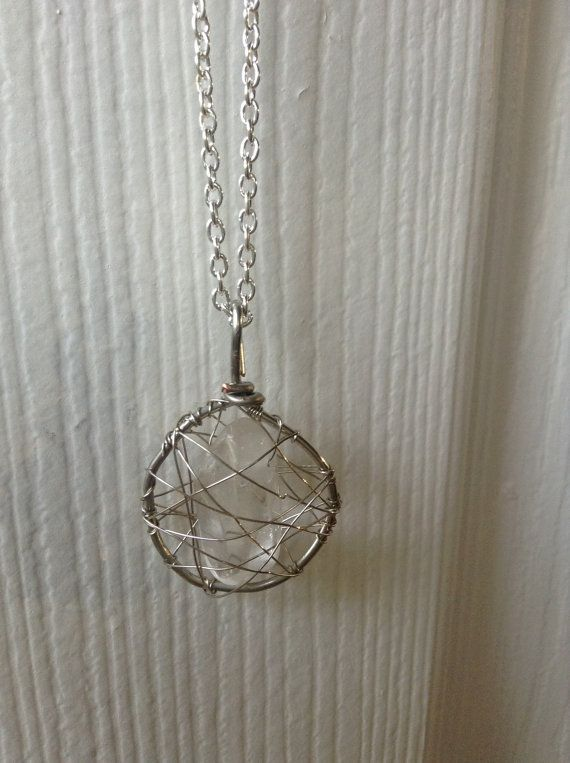 Cage Pendant for Necklace Gemstone Cage NecklaceWire Wrapped Pendant for Crystals