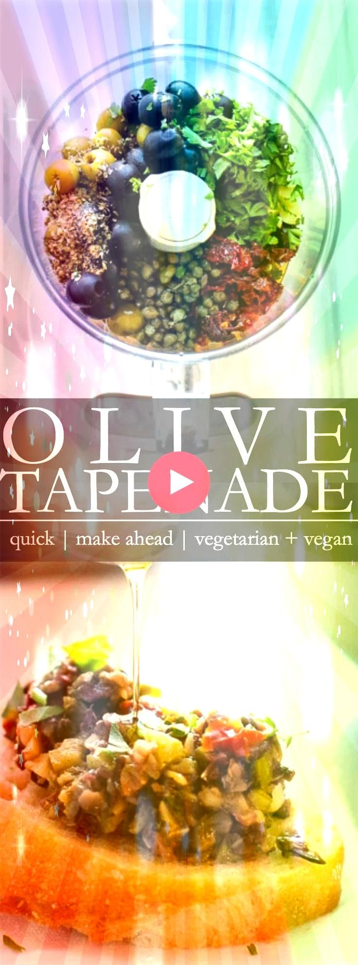 Tapenade  A quick and easy food processor appetizer to pull together for   Olive Tapenade  A quick and easy food processor appetizer to pull together for   Olive Tapenade...