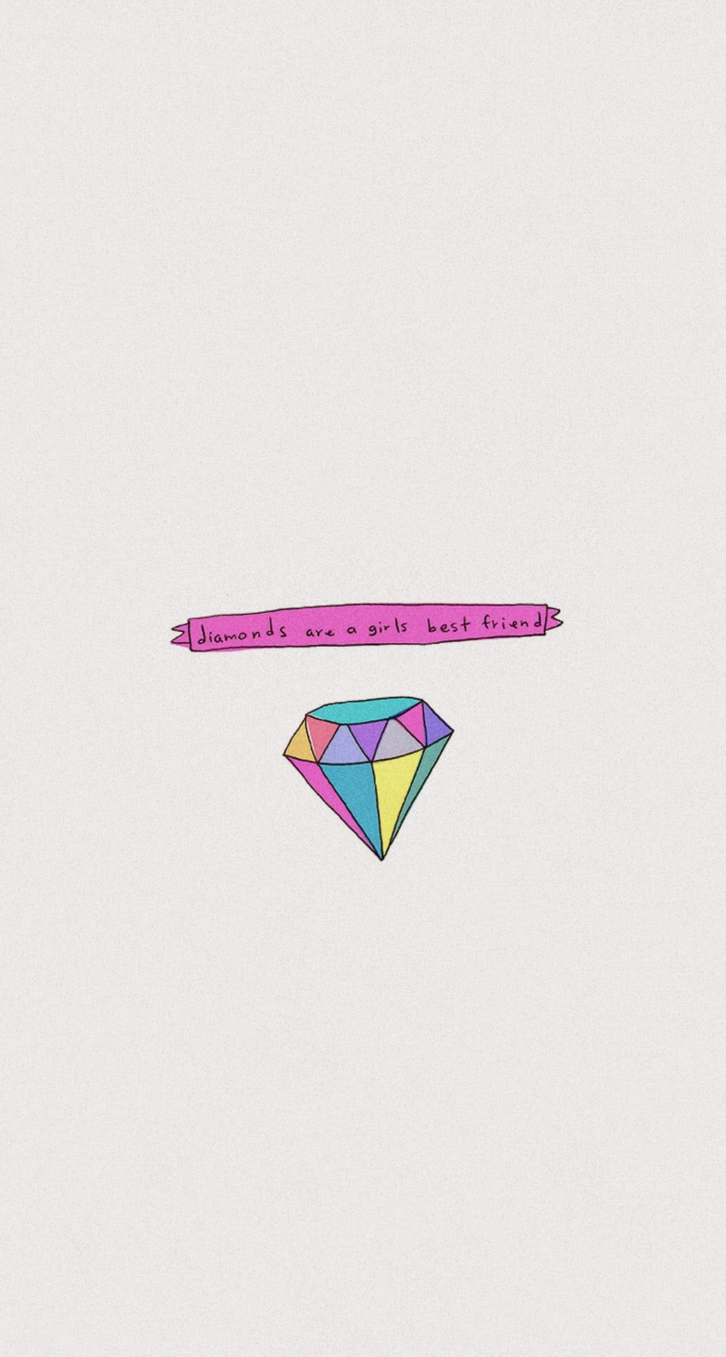 Minimal Grey Pink Diamonds Gem Jewel Iphone Wallpaper Phone Background Lock Screen