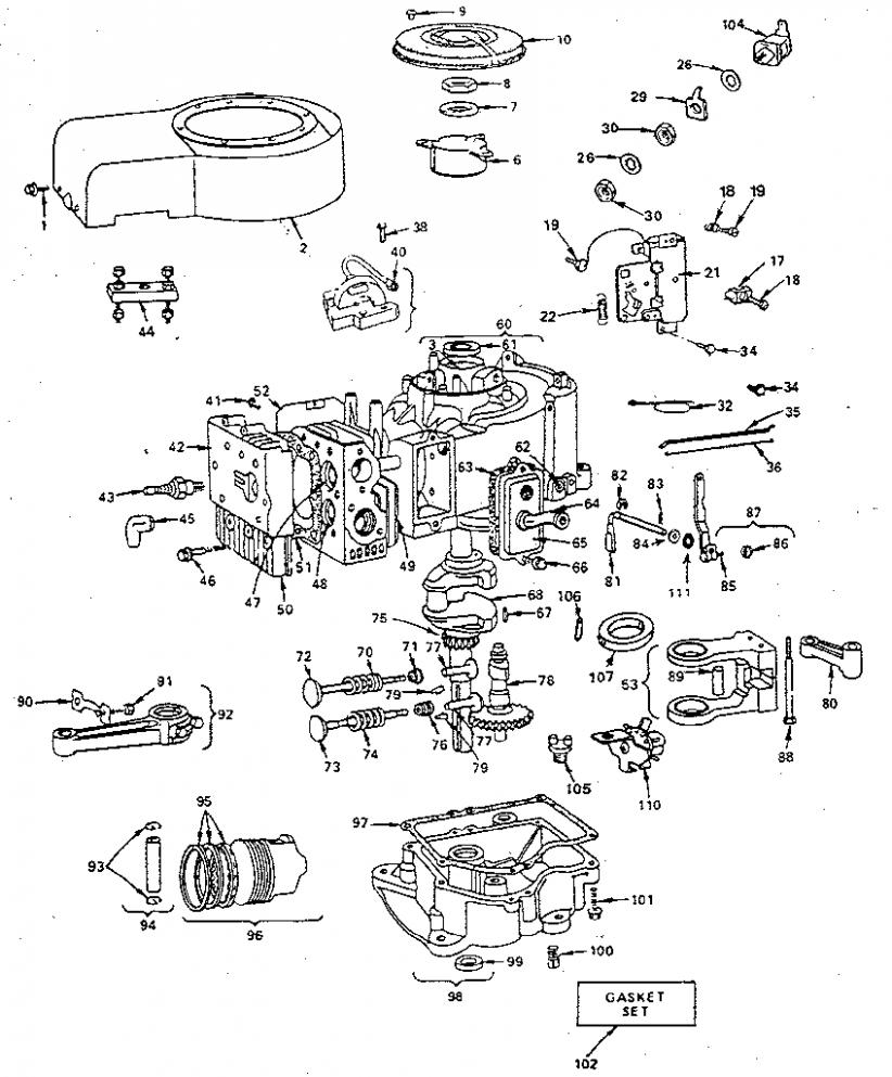 Small Engine Diagram Briggs Stratton In 2020