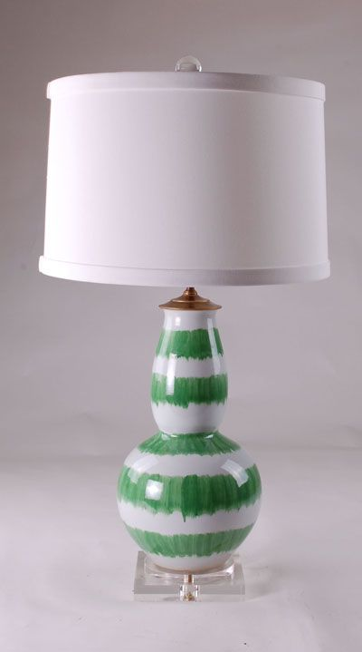 Splashed Green Lamp: Avala And Summerour Lamps