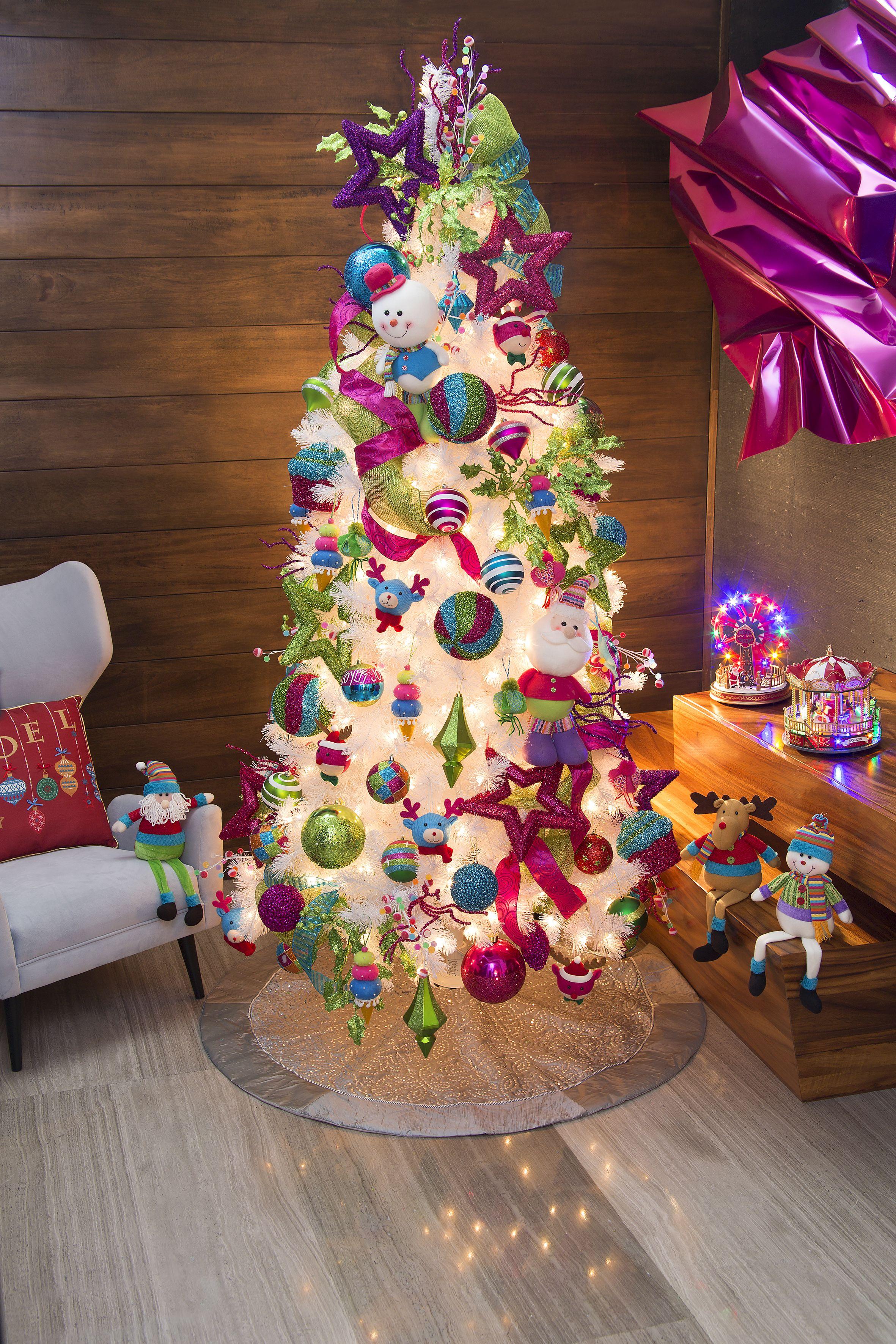Decoraci n para pino navide o familia glim decoracion - Decoracion arboles navidenos ...