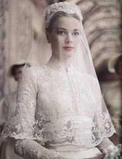 Grace Kelly wedding dress headpiece tocado novia vintage ...