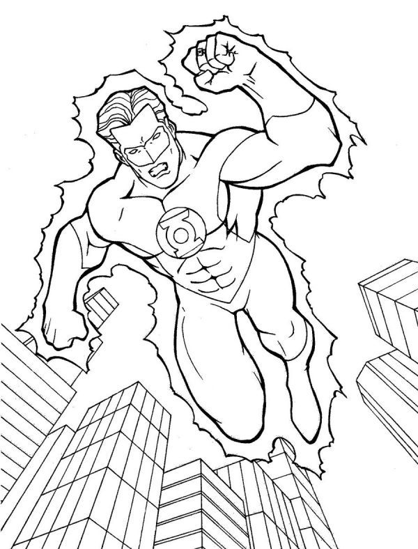Amazing Green Lantern Coloring Pages Printable | Coloring ...