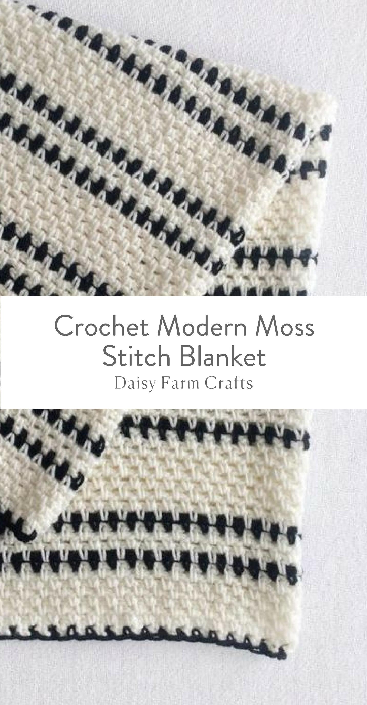 Free Pattern - Crochet Modern Moss Stitch Blanket | Crochet ...