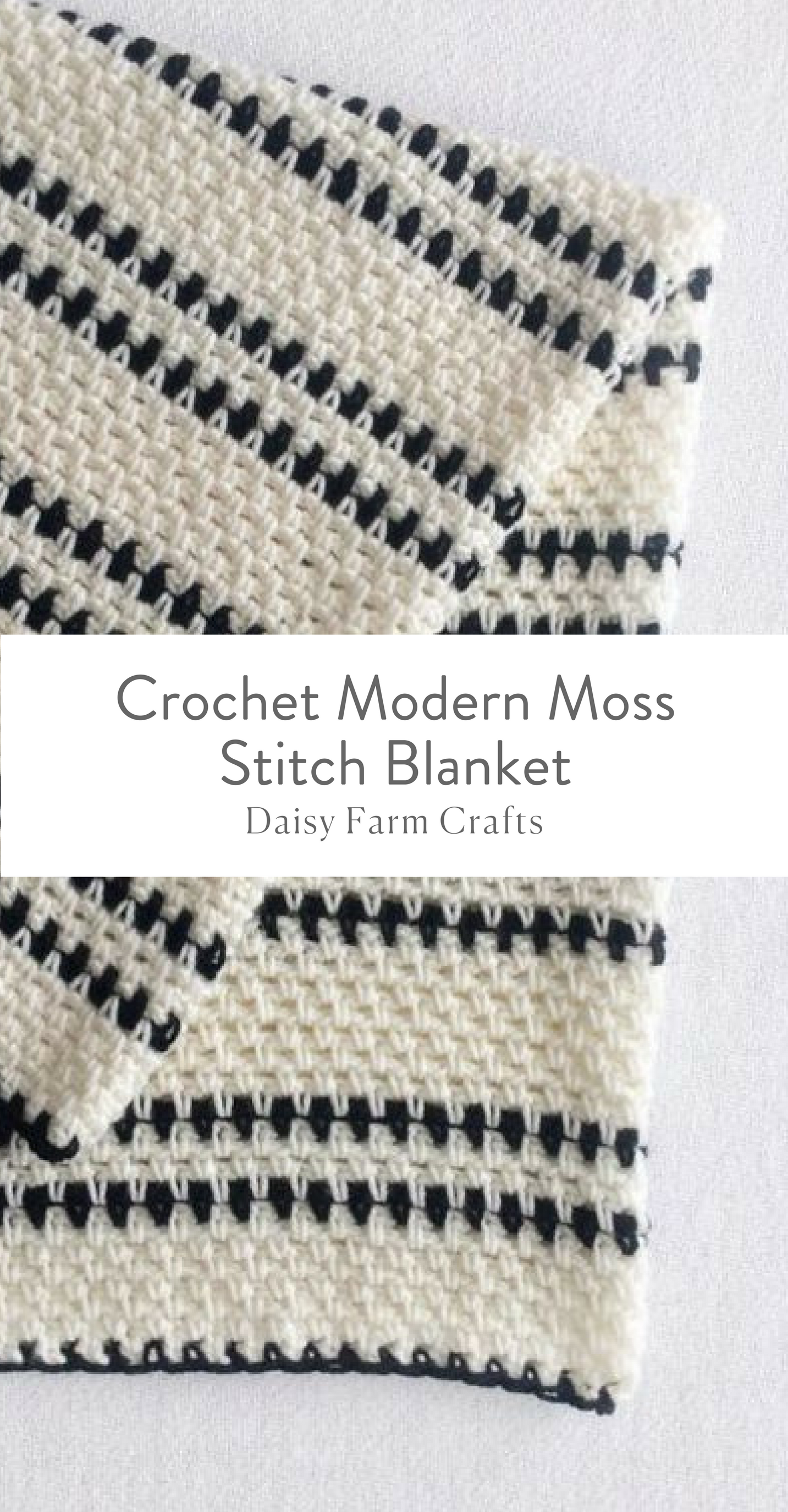 Free Pattern - Crochet Modern Moss Stitch Blanket | Afghan Love ...