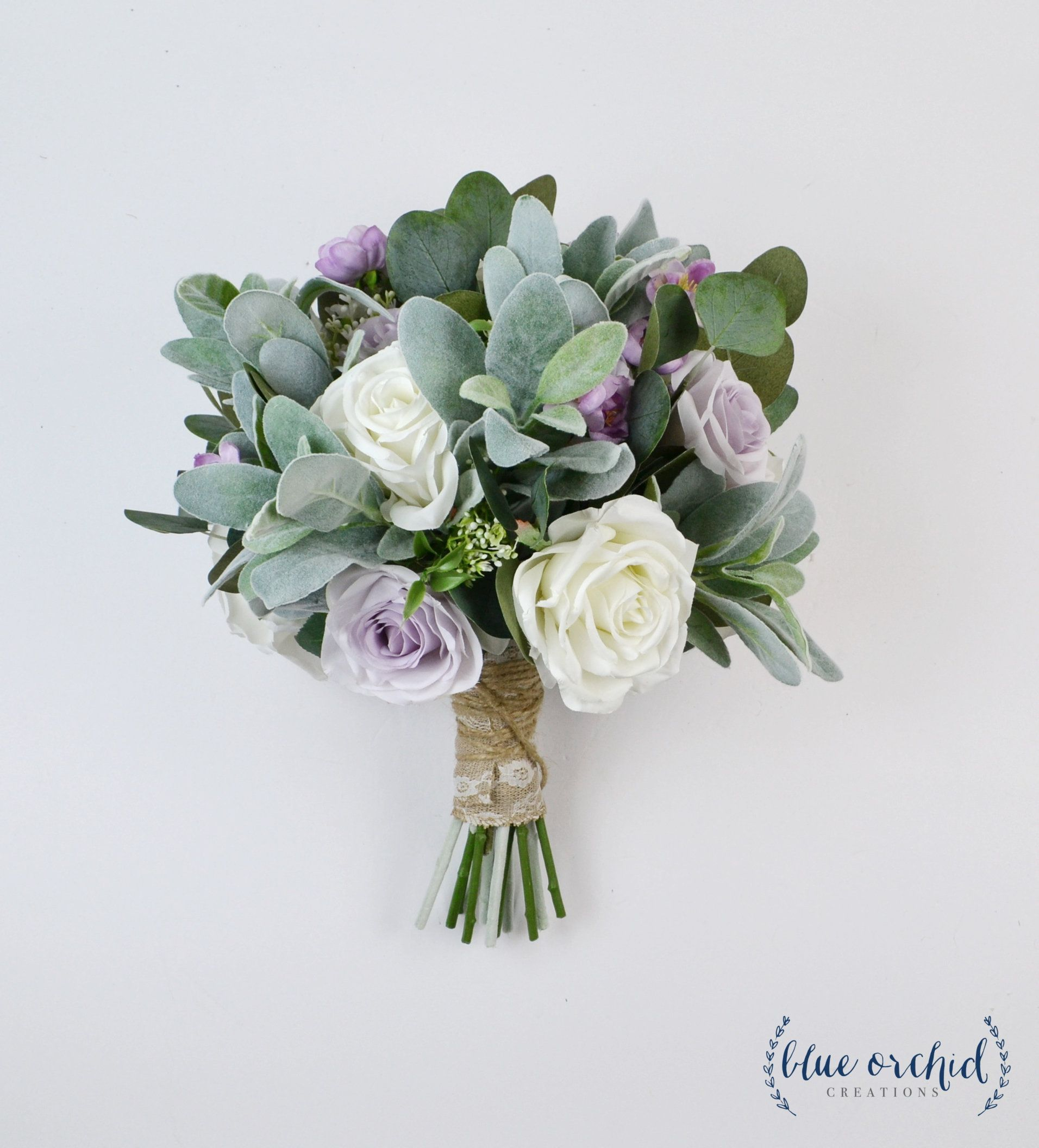 Wedding Bouquet Bridal Bouquet Wedding Flowers Purple Etsy Eucalyptus Wedding Bouquet Artificial Bouquet Wedding Bridal Bouquets