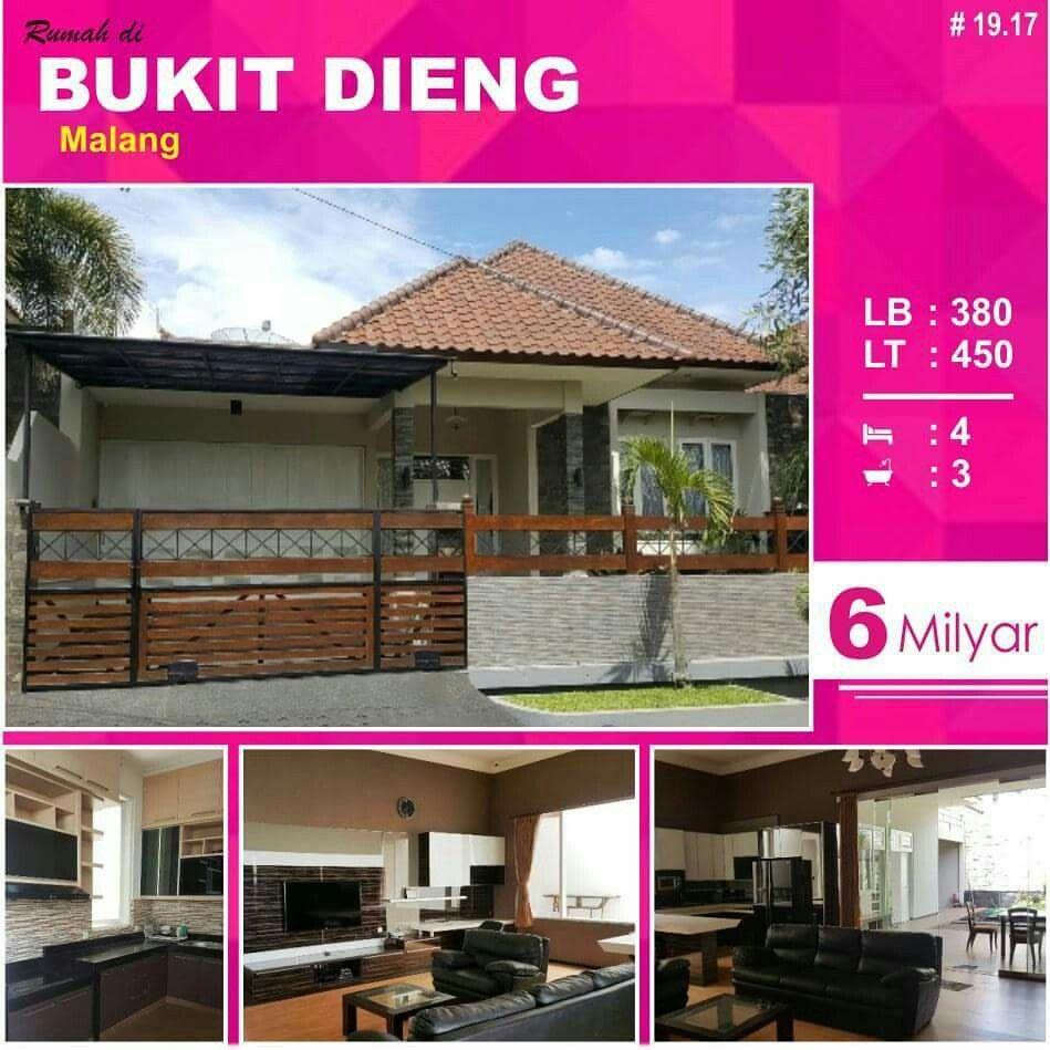 Rumah di Bukit Dieng kota Malang