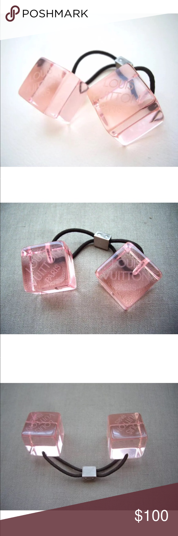 Louis Vuitton ponytail holder Authentic Louis Vuitton ponytail holder.  Please see picture for additional details 7115685c3e6
