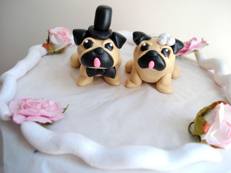 Pug Cake Toppers Wedding Keepsake Decoration Decor Topper Anniversary