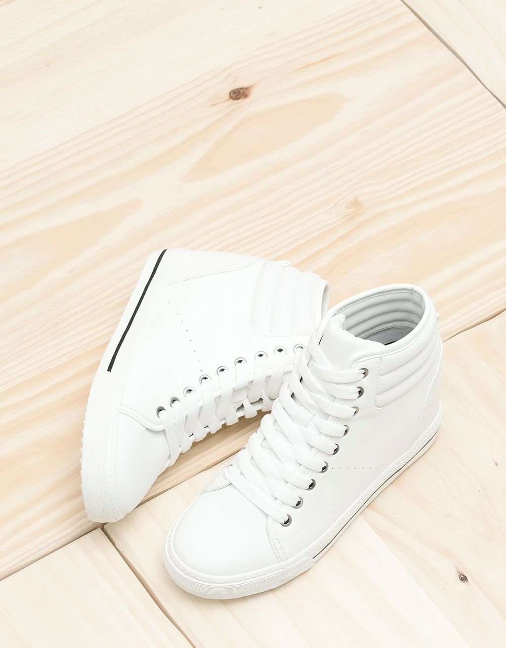 BSK lace-up sporty wedges. Discover this and many more items in Bershka with new products every week