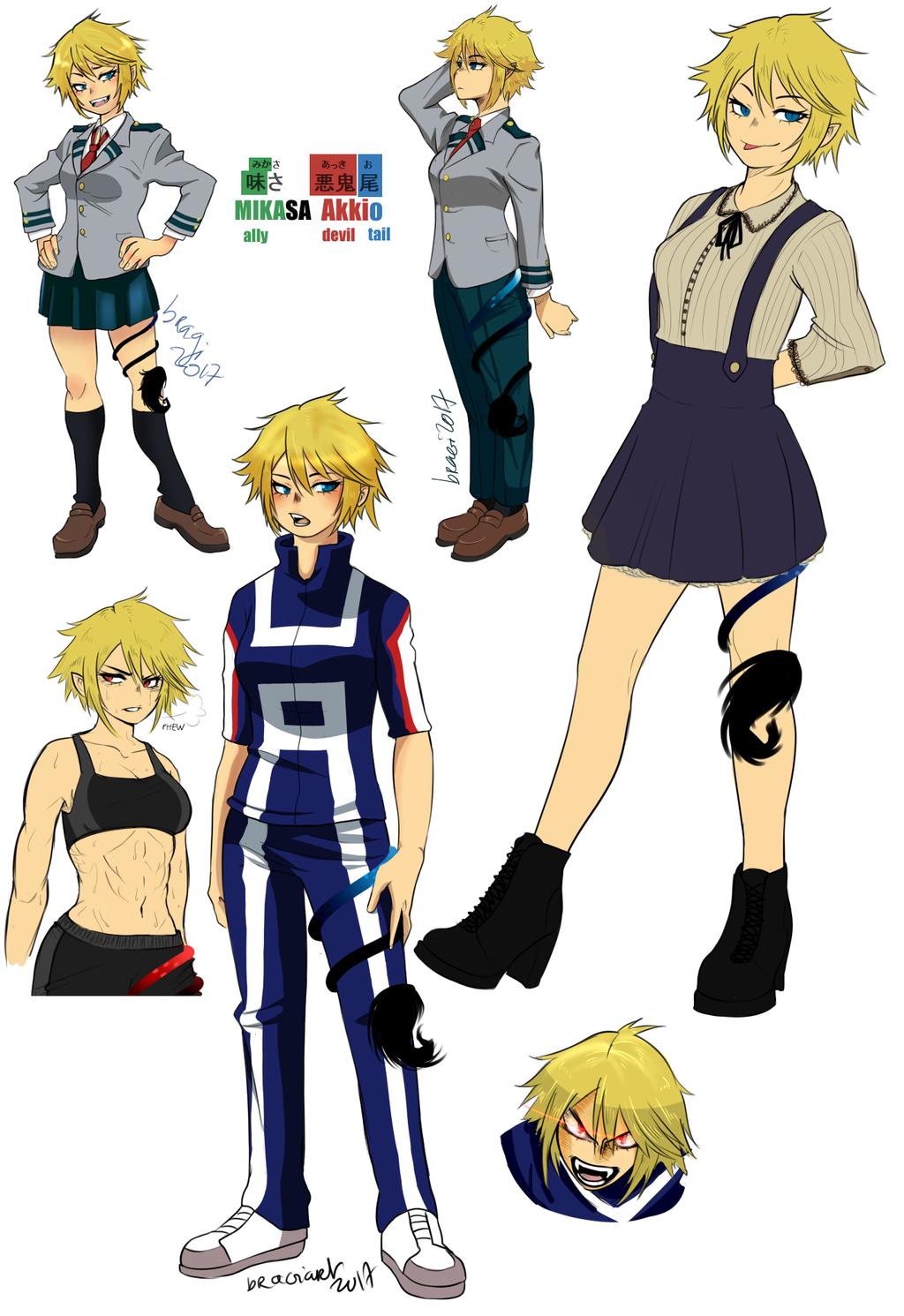 Mikasa Collage By Isram Hero Costumes Hero Academia Characters Black Anime Characters