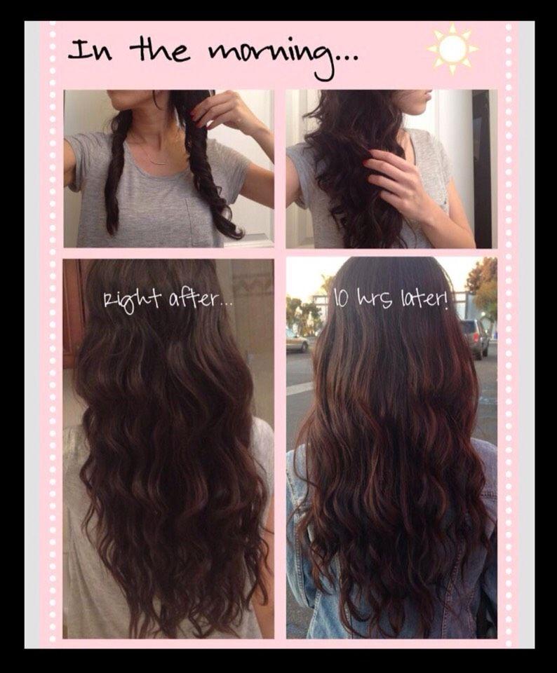 Perfect Heatless Curls Overnight Curl Hair Without Heat Overnight Hairstyles Curl Hair Overnight