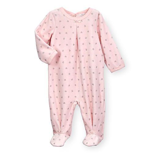 422f26dfe519 Koala Baby Girls Light Pink Heart Print Blanket Sleeper with Bow ...