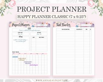 Fitness Planner Printable Happy Planner Inserts Health | Etsy -   fitness Planner mambi
