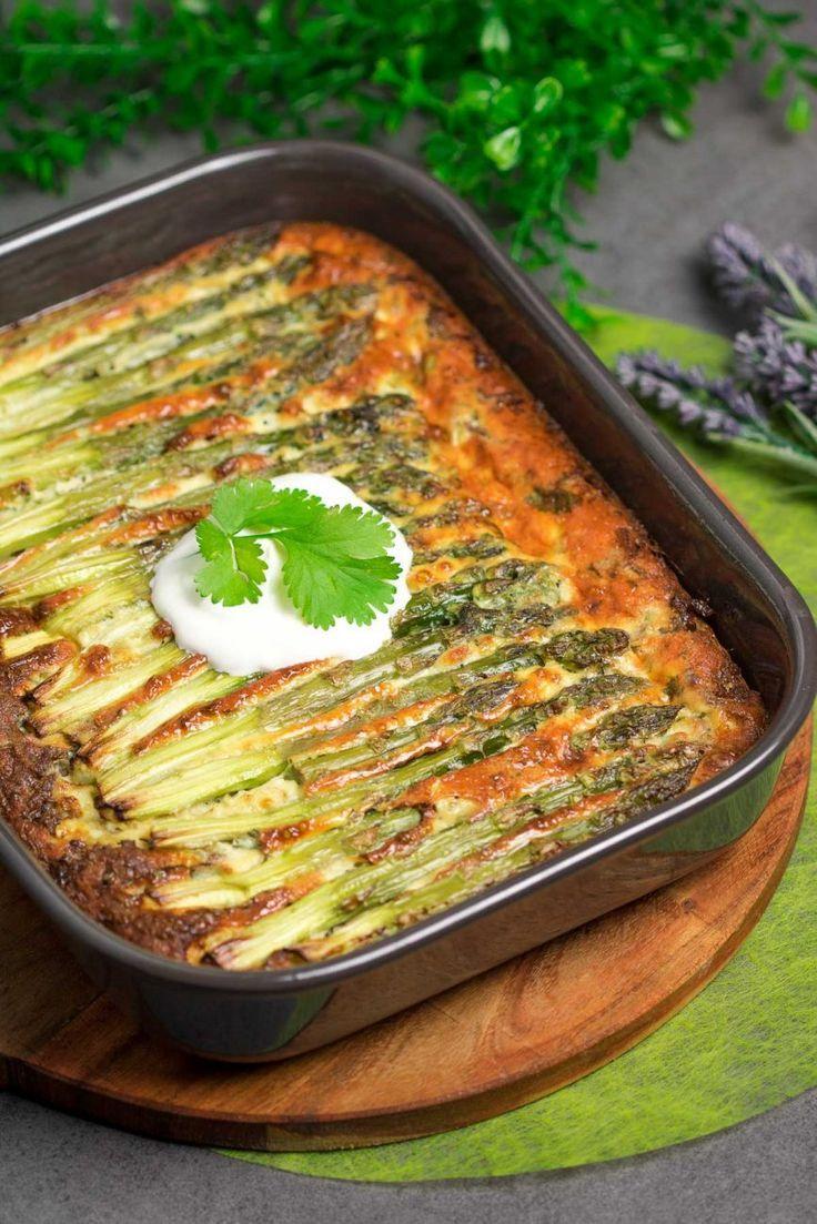 Spargel-Frittata mit Hackfleisch - Low Carb - Keto - LCHF