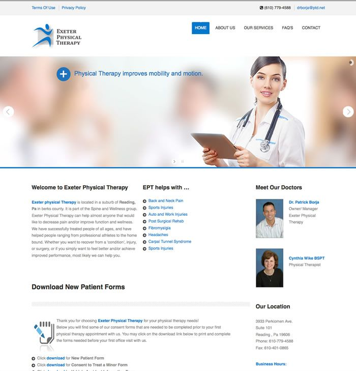 Exeter Physical Therapy Website By Lmg Web Design Web Design Therapy Website Website Inspiration