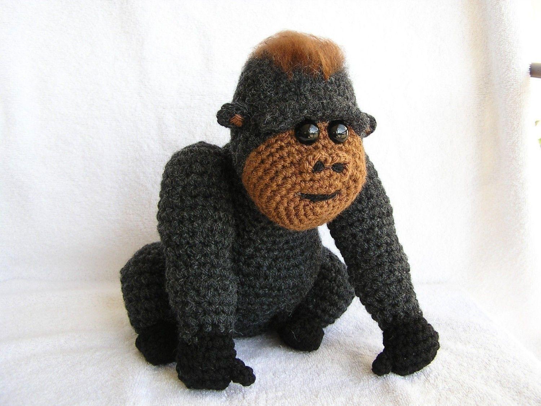 Amigurumi Magazine Pdf : Pdf crochet pattern baby gorilla via etsy crochet