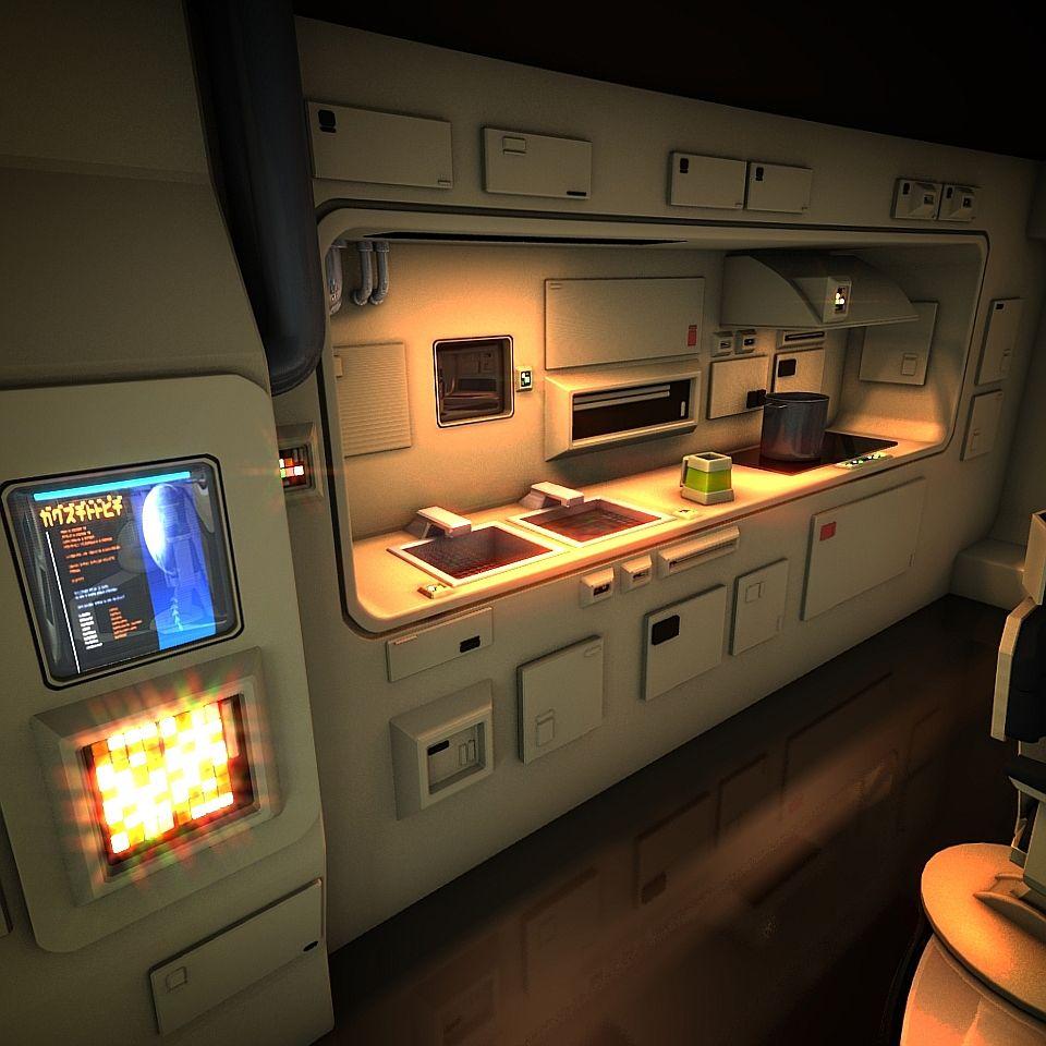 Space Ship Theme Interior Design