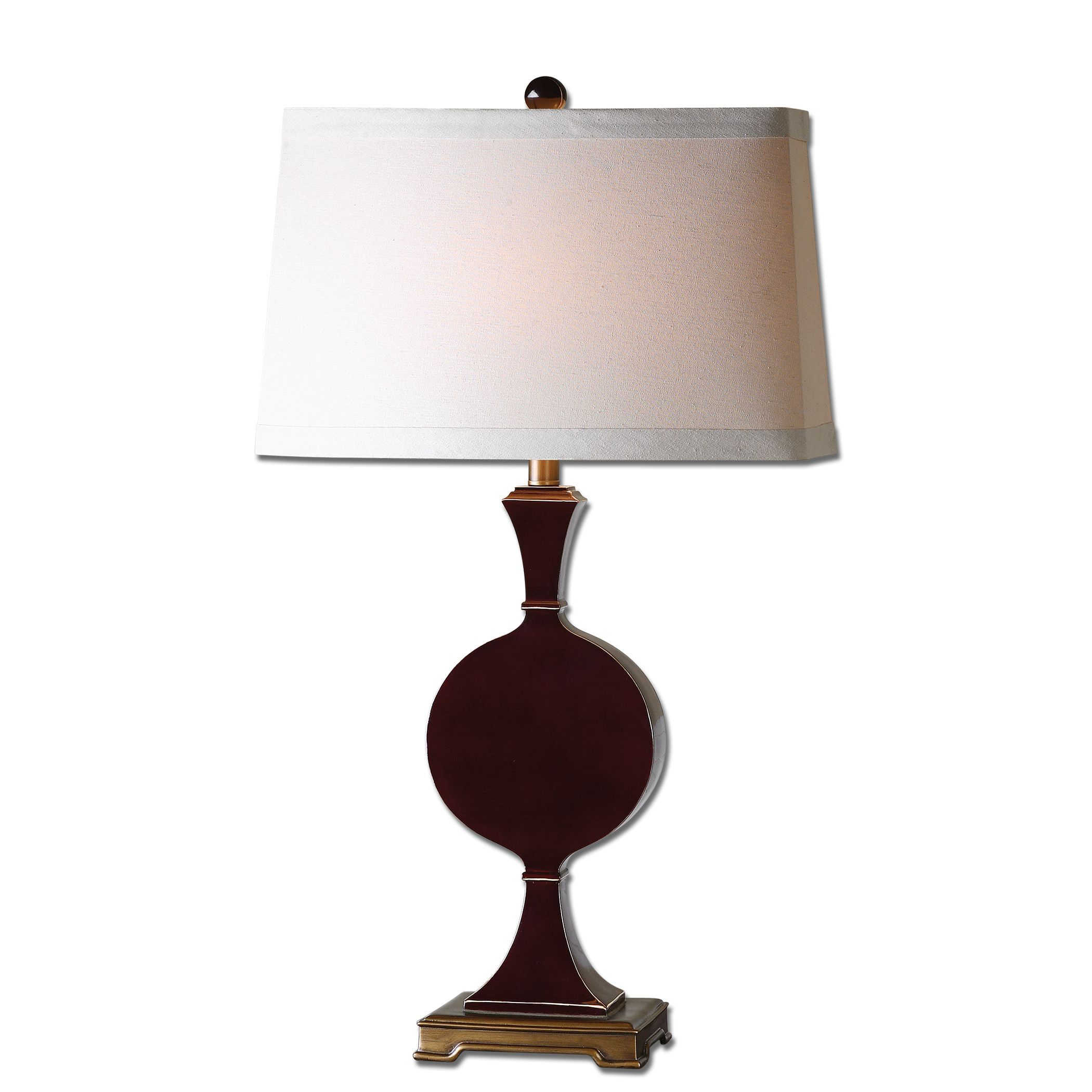Uttermost Aileen Dark Red Table Lamp 27508 1 Pinterest