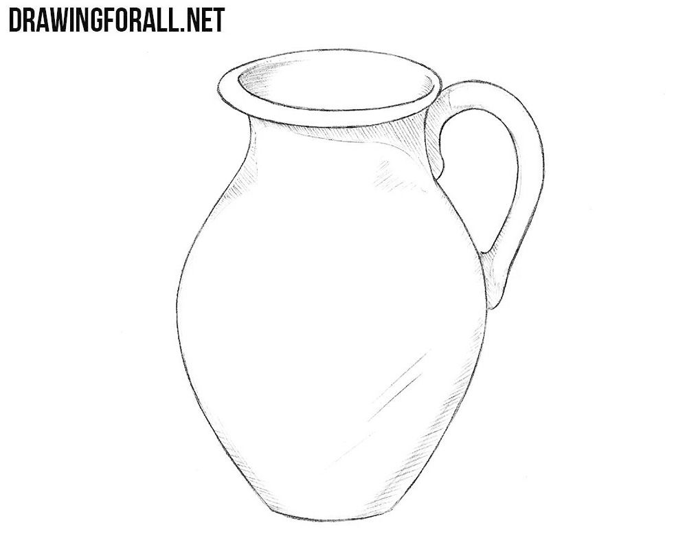How To Draw A Jug Drawings Outline Drawings Object Drawing