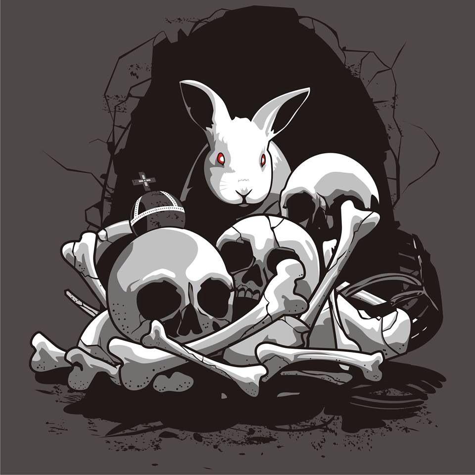 f499aec2e The white rabbit Monty Python | Things I like | Funny tee shirts ...