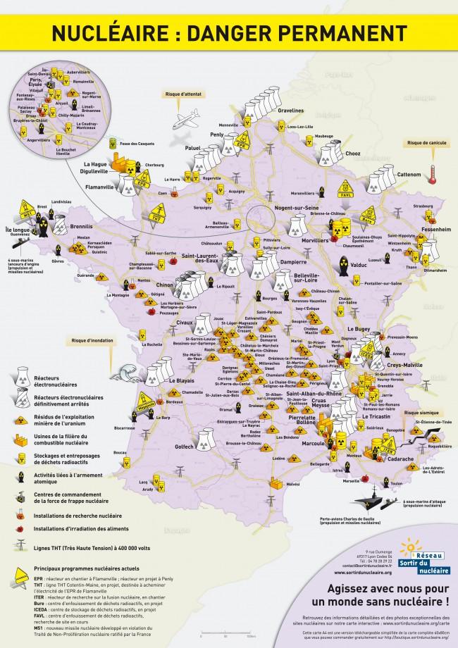 Cartes Des Risques Nucleaires En France Carte De France Carte Geographie