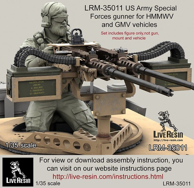 us army special forces gunner for 50 cal m2 and twin 50 cal m2