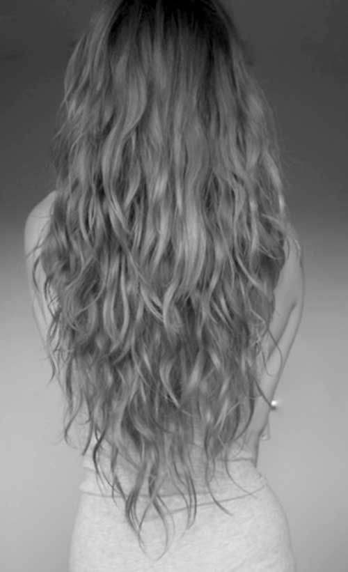 V Cut With Long Layers On Naturally Wavy Hair Hair Pinterest