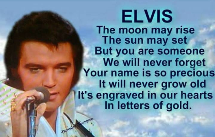 Elvis.........we will never forget you.